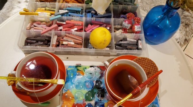 Теа and Art for Moms and Dads. Workshop with Borya Lena Kuznetsov